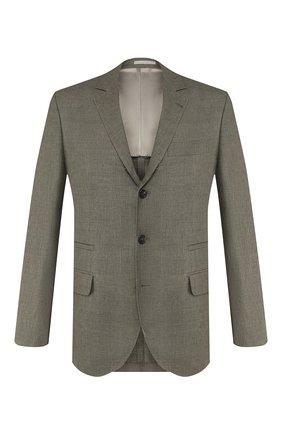 Мужской пиджак из смеси льна и шерсти BRUNELLO CUCINELLI хаки цвета, арт. MH4227BTD | Фото 1