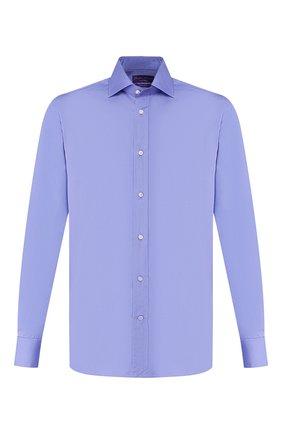 Мужская хлопковая сорочка RALPH LAUREN синего цвета, арт. 791536980 | Фото 1