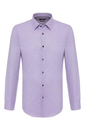 Мужская хлопковая сорочка BOSS сиреневого цвета, арт. 50422975 | Фото 1