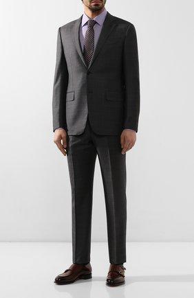 Мужская хлопковая сорочка BOSS сиреневого цвета, арт. 50422975 | Фото 2