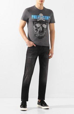 Мужские кожаные кеды SALVATORE FERRAGAMO черного цвета, арт. Z-07278103E | Фото 2