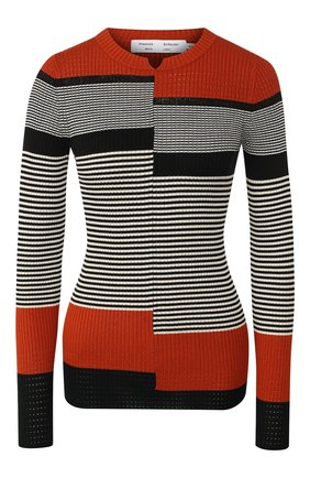 Пуловер из смеси шелка и хлопка   Фото №1