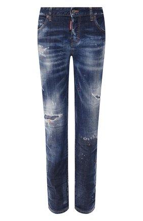 Женские джинсы DSQUARED2 темно-синего цвета, арт. S75LB0271/S30342 | Фото 1
