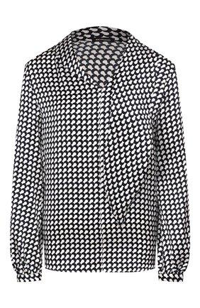 Женская шелковая блузка KITON темно-синего цвета, арт. D49403K09S75   Фото 1