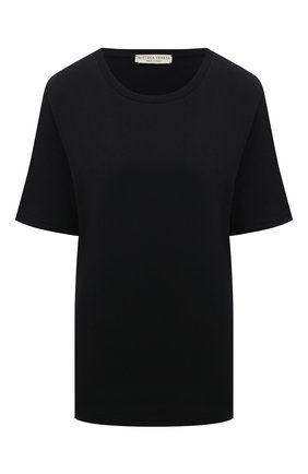 Женская хлопковая футболка BOTTEGA VENETA черного цвета, арт. 607793/VA8E0 | Фото 1