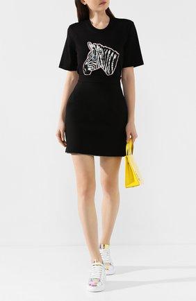 Женская хлопковая футболка MARKUS LUPFER черного цвета, арт. TEE340 | Фото 2