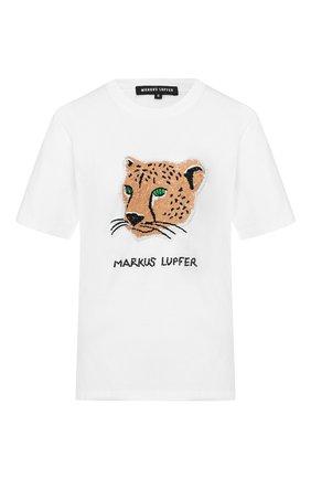 Женская хлопковая футболка MARKUS LUPFER белого цвета, арт. TEE342 | Фото 1
