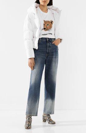 Женская хлопковая футболка MARKUS LUPFER белого цвета, арт. TEE342 | Фото 2