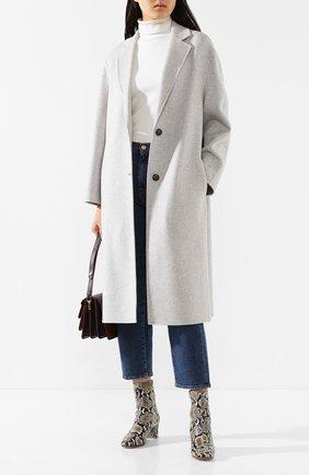 Женское пальто из смеси шерсти и кашемира JOSEPH светло-серого цвета, арт. JF004002 | Фото 2