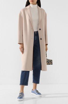 Женское пальто из смеси шерсти и кашемира JOSEPH розового цвета, арт. JF004002 | Фото 2