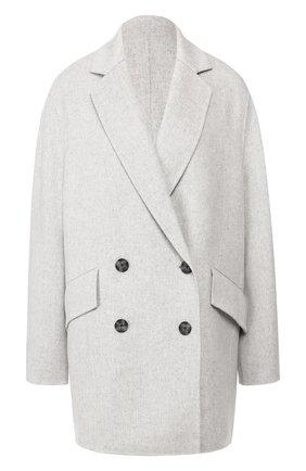 Женское пальто из смеси шерсти и кашемира JOSEPH светло-серого цвета, арт. JF004003 | Фото 1
