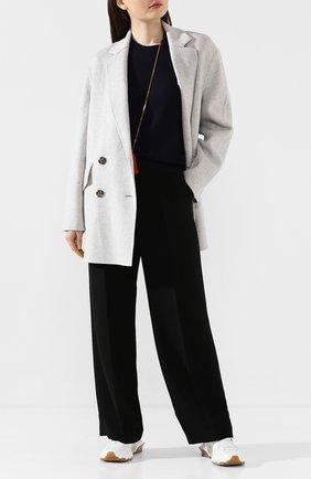 Женское пальто из смеси шерсти и кашемира JOSEPH светло-серого цвета, арт. JF004003 | Фото 2