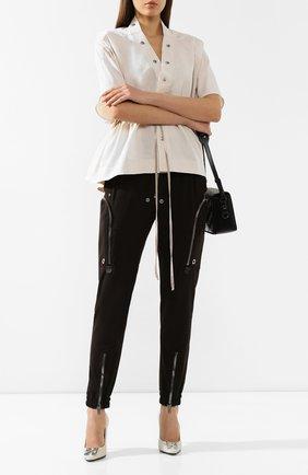 Женские брюки RICK OWENS коричневого цвета, арт. RP20S1326/WA | Фото 2
