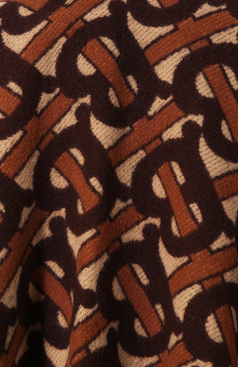 Женская шерстяное пончо BURBERRY коричневого цвета, арт. 8021873   Фото 5