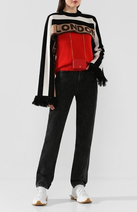 Женская кашемировый свитер BURBERRY красного цвета, арт. 8008937 | Фото 2