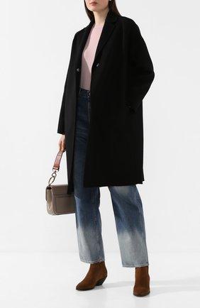 Женское шерстяное пальто STELLA MCCARTNEY черного цвета, арт. 573928/SMB09   Фото 2
