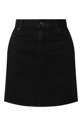 Женская джинсовая юбка SAINT LAURENT черного цвета, арт. 596998/Y500A | Фото 1