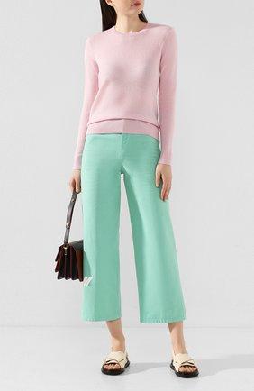 Женская кашемировый пуловер THEORY розового цвета, арт. J0118711 | Фото 2