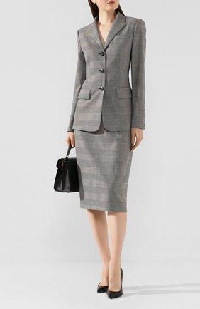 Женский шерстяной жакет ESCADA серого цвета, арт. 5031791 | Фото 2