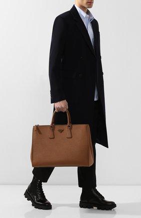 Мужская сумка galleria large PRADA коричневого цвета, арт. 2VG047-9Z2-F0401 | Фото 2
