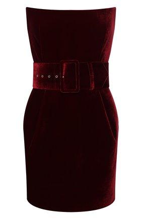 Женское бархатное платье RASARIO бордового цвета, арт. 0041W9_2 | Фото 1