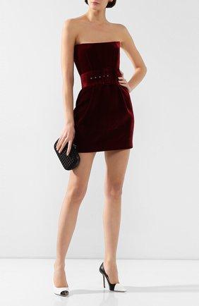 Женское бархатное платье RASARIO бордового цвета, арт. 0041W9_2 | Фото 2