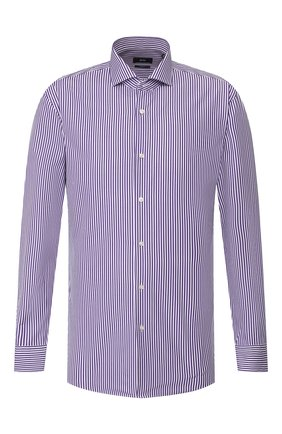 Мужская хлопковая сорочка BOSS фиолетового цвета, арт. 50421662 | Фото 1