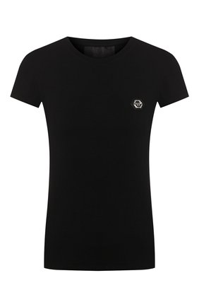 Женская футболка PHILIPP PLEIN черного цвета, арт. S20C WTK1986 PJY002N | Фото 1