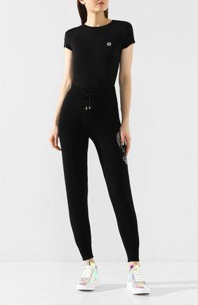 Женская футболка PHILIPP PLEIN черного цвета, арт. S20C WTK1986 PJY002N | Фото 2
