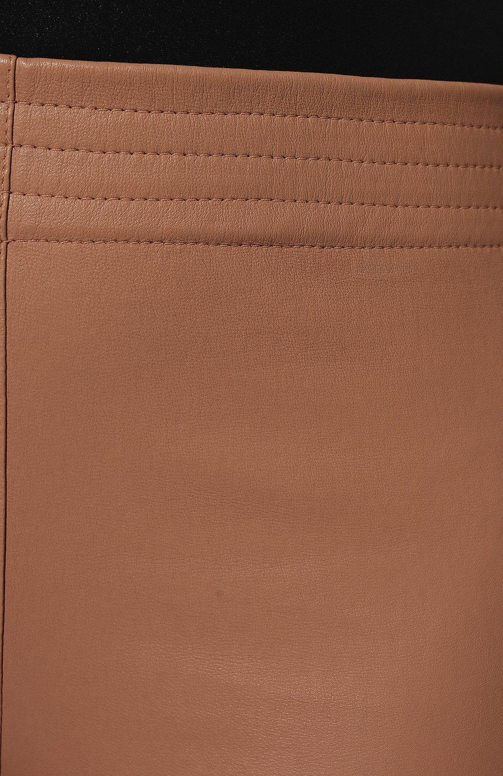 Женские кожаные шорты DROME бежевого цвета, арт. DPD1847C/D074C   Фото 5 (Женское Кросс-КТ: Шорты-одежда; Длина Ж (юбки, платья, шорты): Мини; Стили: Гранж; Статус проверки: Проверена категория)