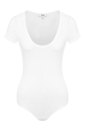 Женское боди AGOLDE белого цвета, арт. A7038-1095 | Фото 1