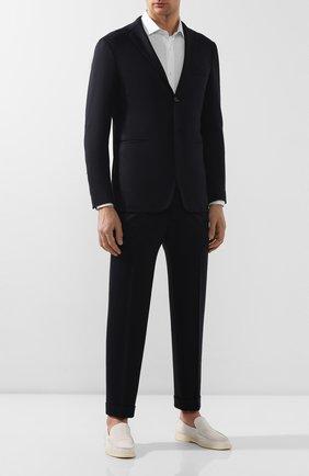 Мужской шерстяной костюм KNT темно-синего цвета, арт. UAS0101K01S91 | Фото 1
