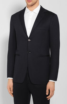 Мужской шерстяной костюм KNT темно-синего цвета, арт. UAS0101K01S91 | Фото 2