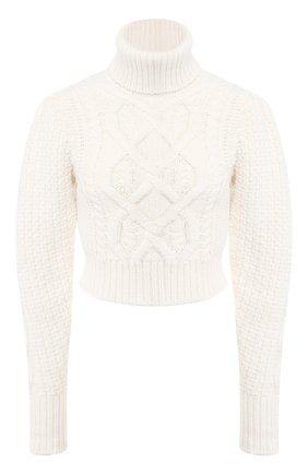 Женская шерстяной свитер WANDERING белого цвета, арт. WGW19903 | Фото 1