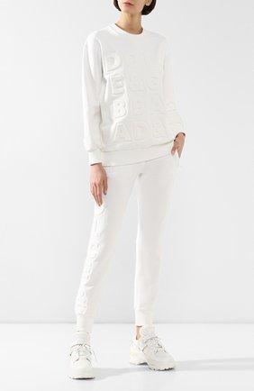 Женские хлопковые джоггеры DOLCE & GABBANA белого цвета, арт. FTBM6T/FU7DU | Фото 2