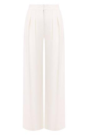 Женские брюки из вискозы GIORGIO ARMANI белого цвета, арт. 3HAP51/AJJXZ | Фото 1 (Женское Кросс-КТ: Брюки-одежда; Длина (брюки, джинсы): Стандартные; Случай: Формальный; Силуэт Ж (брюки и джинсы): Широкие; Статус проверки: Проверена категория; Материал внешний: Вискоза)