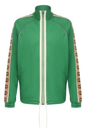 Мужская толстовка GUCCI зеленого цвета, арт. 598861/XJBZ8   Фото 1
