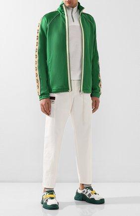 Мужская толстовка GUCCI зеленого цвета, арт. 598861/XJBZ8   Фото 2