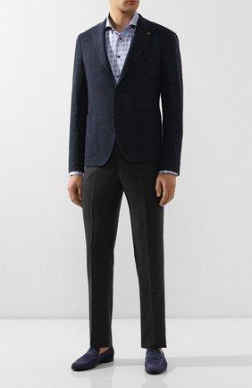 Мужская хлопковая сорочка ETON синего цвета, арт. 1000 00465 | Фото 2