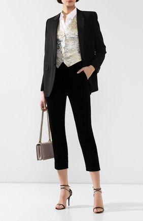Женские хлопковые брюки DOLCE & GABBANA черного цвета, арт. FTB00T/FUVJZ | Фото 2