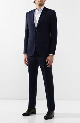 Мужской шерстяной костюм ZEGNA COUTURE темно-синего цвета, арт. 722N22/21L2N5 | Фото 1