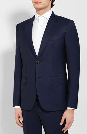 Мужской шерстяной костюм ZEGNA COUTURE темно-синего цвета, арт. 722N22/21L2N5 | Фото 2
