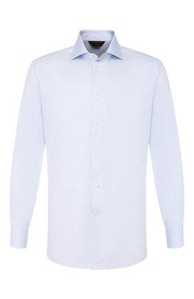 Мужская хлопковая сорочка ZEGNA COUTURE синего цвета, арт. 702062/9NS0LB | Фото 1