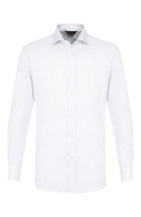 Мужская хлопковая сорочка ZEGNA COUTURE белого цвета, арт. 702006/9NS0LB | Фото 1