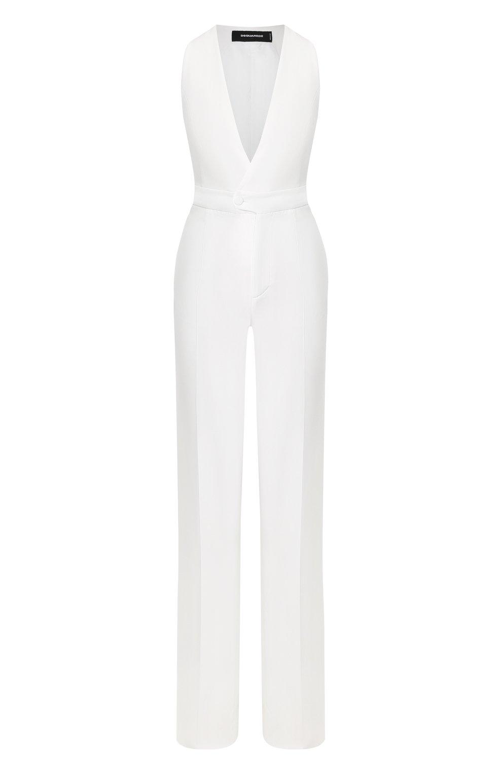 Женский комбинезон DSQUARED2 белого цвета, арт. S75FP0096/S48427 | Фото 1