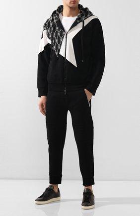 Мужская толстовка NEIL BARRETT черного цвета, арт. PBJS581C/N506C | Фото 2