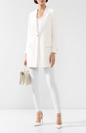 Женский шелковый жакет KITON белого цвета, арт. D29506K09S67 | Фото 2