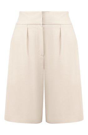 Женские кожаные шорты BRUNELLO CUCINELLI белого цвета, арт. M0TANP7215   Фото 1