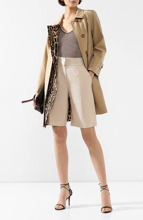 Женские кожаные шорты BRUNELLO CUCINELLI белого цвета, арт. M0TANP7215   Фото 2