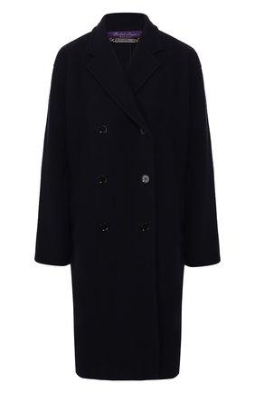 Женское шерстяное пальто RALPH LAUREN темно-синего цвета, арт. 290788619 | Фото 1